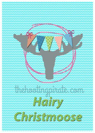 Hairy Christmoose 4x6 watermark
