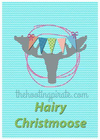 Hairy Christmoose 4x6 watermark