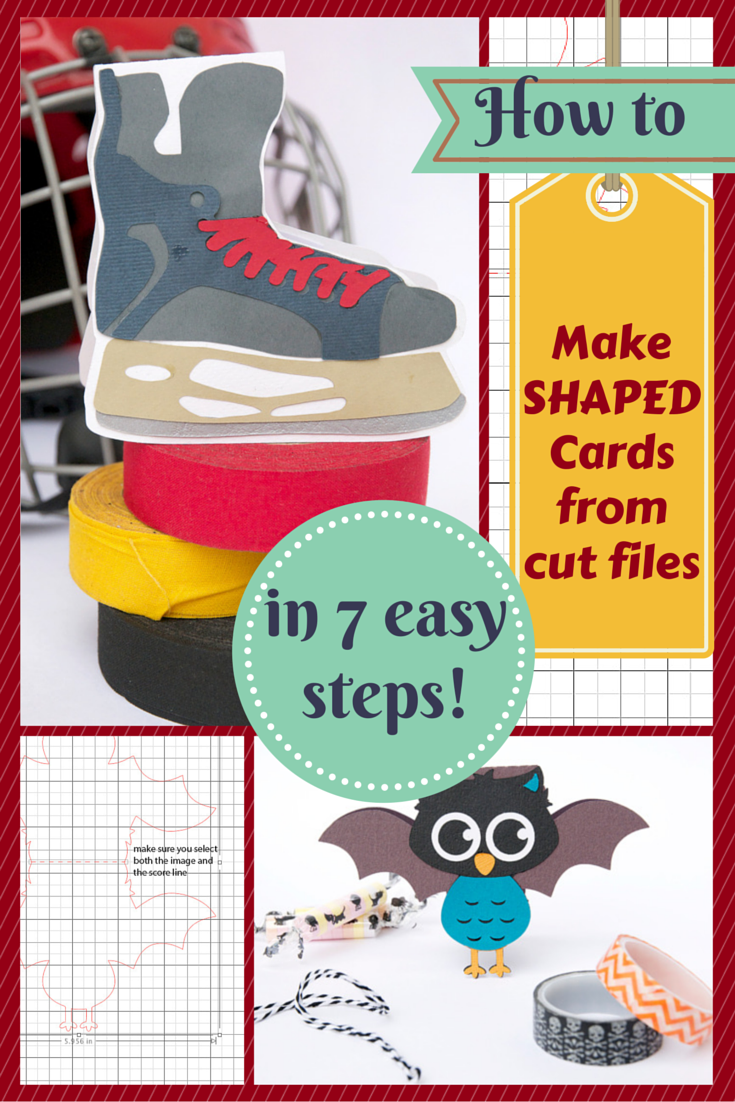 Shaped card tutorial by Cara Vincens